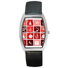 Christmas Map Innovative Modern Barrel Style Metal Watch by BangZart