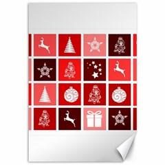 Christmas Map Innovative Modern Canvas 12  X 18   by BangZart