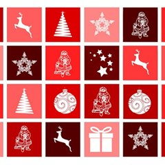 Christmas Map Innovative Modern Magic Photo Cubes