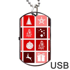 Christmas Map Innovative Modern Dog Tag Usb Flash (two Sides) by BangZart