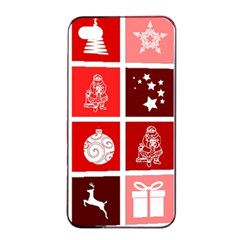 Christmas Map Innovative Modern Apple Iphone 4/4s Seamless Case (black)