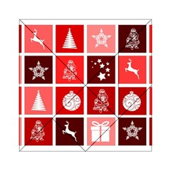 Christmas Map Innovative Modern Acrylic Tangram Puzzle (6  X 6 )