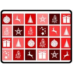 Christmas Map Innovative Modern Double Sided Fleece Blanket (large)