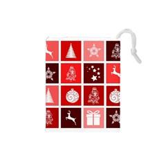 Christmas Map Innovative Modern Drawstring Pouches (small)  by BangZart