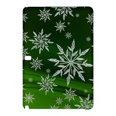Christmas Star Ice Crystal Green Background Samsung Galaxy Tab Pro 10 1 Hardshell Case