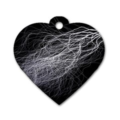 Flash Black Thunderstorm Dog Tag Heart (one Side)