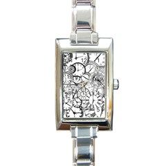 Time Clock Watches Time Of Rectangle Italian Charm Watch