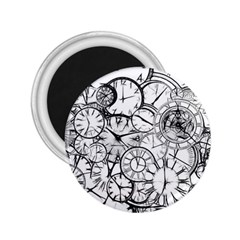 Time Clock Watches Time Of 2 25  Magnets by BangZart