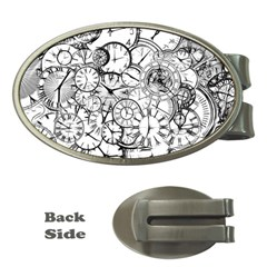 Time Clock Watches Time Of Money Clips (oval)