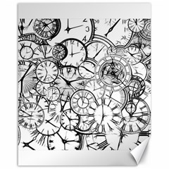 Time Clock Watches Time Of Canvas 16  X 20