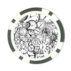 Time Clock Watches Time Of Poker Chip Card Guard