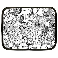 Time Clock Watches Time Of Netbook Case (xxl)  by BangZart