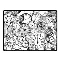 Time Clock Watches Time Of Fleece Blanket (small)
