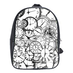 Time Clock Watches Time Of School Bag (xl)