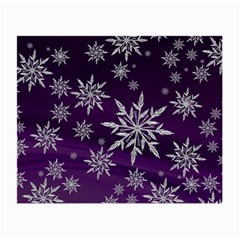 Christmas Star Ice Crystal Purple Background Small Glasses Cloth by BangZart