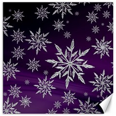 Christmas Star Ice Crystal Purple Background Canvas 12  X 12   by BangZart