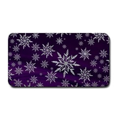 Christmas Star Ice Crystal Purple Background Medium Bar Mats by BangZart