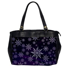 Christmas Star Ice Crystal Purple Background Office Handbags
