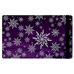 Christmas Star Ice Crystal Purple Background Apple Ipad 3/4 Flip Case by BangZart