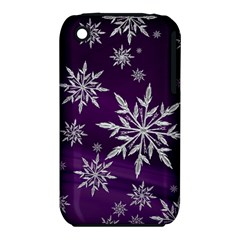 Christmas Star Ice Crystal Purple Background Iphone 3s/3gs by BangZart