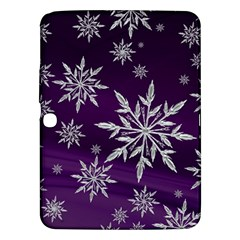 Christmas Star Ice Crystal Purple Background Samsung Galaxy Tab 3 (10 1 ) P5200 Hardshell Case