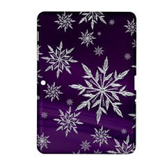 Christmas Star Ice Crystal Purple Background Samsung Galaxy Tab 2 (10 1 ) P5100 Hardshell Case