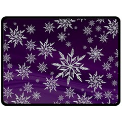 Christmas Star Ice Crystal Purple Background Double Sided Fleece Blanket (large)  by BangZart