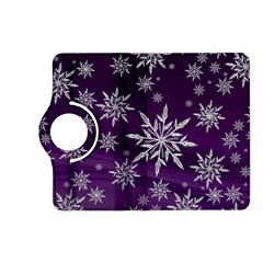 Christmas Star Ice Crystal Purple Background Kindle Fire Hd (2013) Flip 360 Case by BangZart