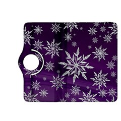 Christmas Star Ice Crystal Purple Background Kindle Fire Hdx 8 9  Flip 360 Case by BangZart