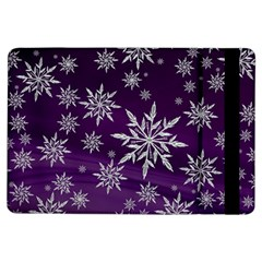Christmas Star Ice Crystal Purple Background Ipad Air Flip by BangZart