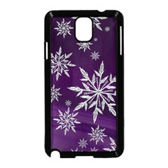 Christmas Star Ice Crystal Purple Background Samsung Galaxy Note 3 Neo Hardshell Case (black)