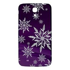 Christmas Star Ice Crystal Purple Background Samsung Galaxy Mega I9200 Hardshell Back Case