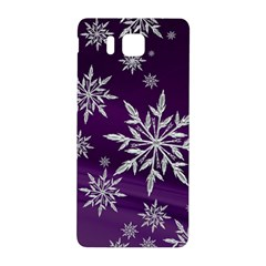 Christmas Star Ice Crystal Purple Background Samsung Galaxy Alpha Hardshell Back Case