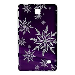 Christmas Star Ice Crystal Purple Background Samsung Galaxy Tab 4 (8 ) Hardshell Case