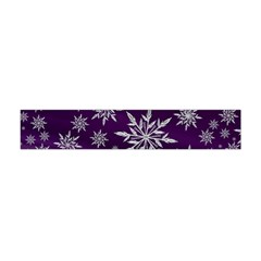 Christmas Star Ice Crystal Purple Background Flano Scarf (mini) by BangZart
