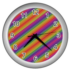 Spectrum Psychedelic Wall Clocks (silver)