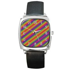 Spectrum Psychedelic Square Metal Watch