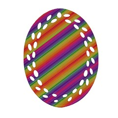 Spectrum Psychedelic Ornament (oval Filigree)