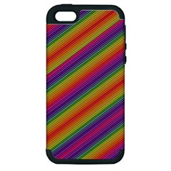 Spectrum Psychedelic Apple Iphone 5 Hardshell Case (pc+silicone)