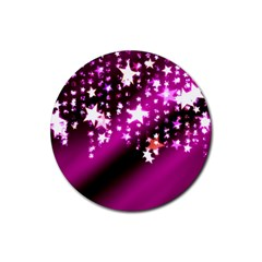Background Christmas Star Advent Rubber Round Coaster (4 Pack)