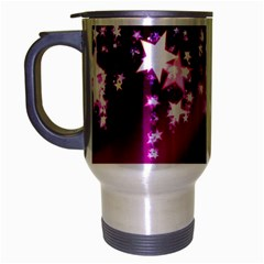 Background Christmas Star Advent Travel Mug (silver Gray) by BangZart