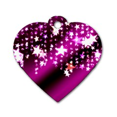 Background Christmas Star Advent Dog Tag Heart (one Side)