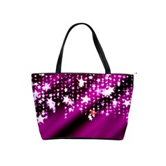 Background Christmas Star Advent Shoulder Handbags by BangZart