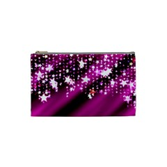 Background Christmas Star Advent Cosmetic Bag (small)