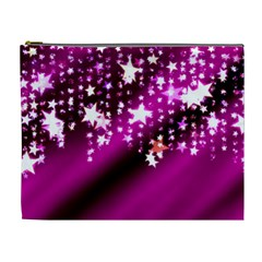 Background Christmas Star Advent Cosmetic Bag (xl)