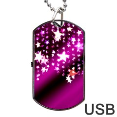 Background Christmas Star Advent Dog Tag Usb Flash (one Side) by BangZart