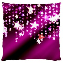 Background Christmas Star Advent Large Cushion Case (one Side)