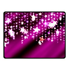 Background Christmas Star Advent Double Sided Fleece Blanket (small)  by BangZart