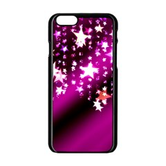Background Christmas Star Advent Apple Iphone 6/6s Black Enamel Case by BangZart