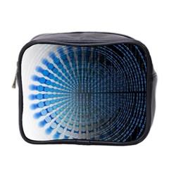 Data Computer Internet Online Mini Toiletries Bag 2 Side